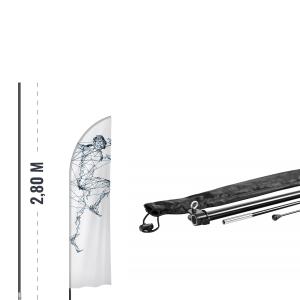 Zestaw - maszt 2,8m + krzyżak + obciążnik