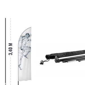 Zestaw - maszt 3,4m + krzyżak + obciążnik