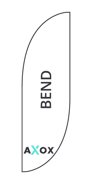 Wykrojnik do flagi reklamowej Bend - Axox Media