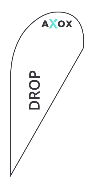 Wykrojnik do flagi reklamowej Drop - Axox Media